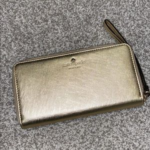 Kate spade wallet faux leather